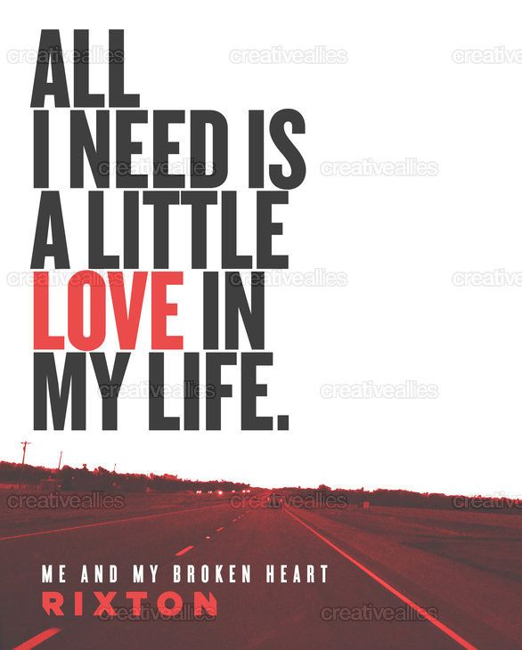 Rixton Me And My Broken Heart Poster On Creativeallies Com Rixton Inspirational Music Quotes Song Challenge