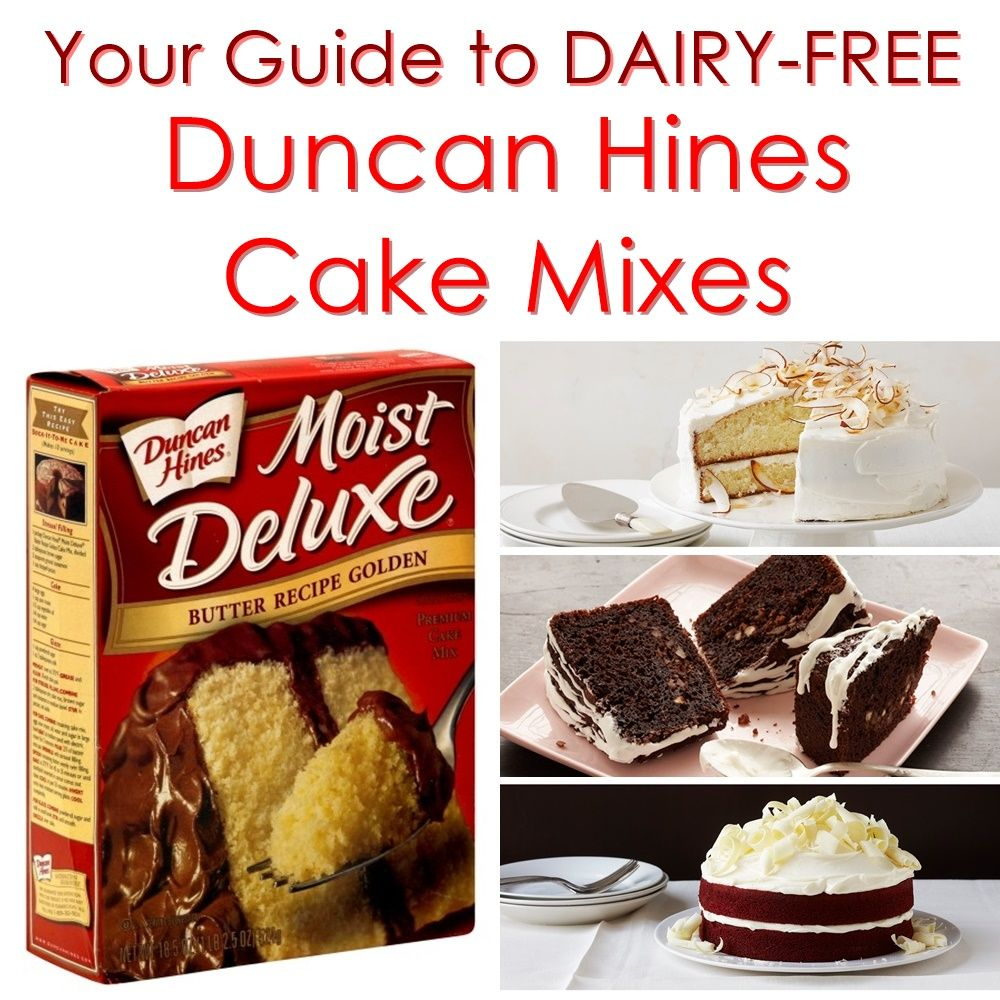 Duncan Hines Cake Mixes The Dairy Free Options With Images