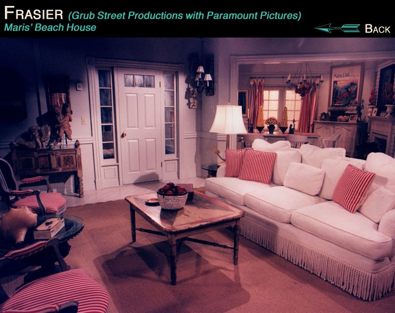 Maris\'s Beach House in the TV Show Fraiser | Home - Living Room ...