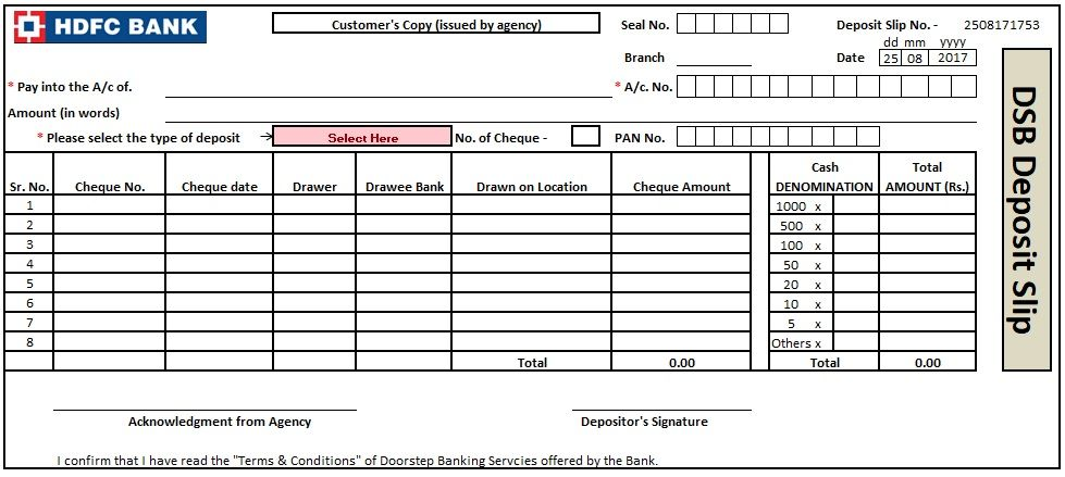 Bank Deposit Slip Template Excel, Word And PDF   exceltmp