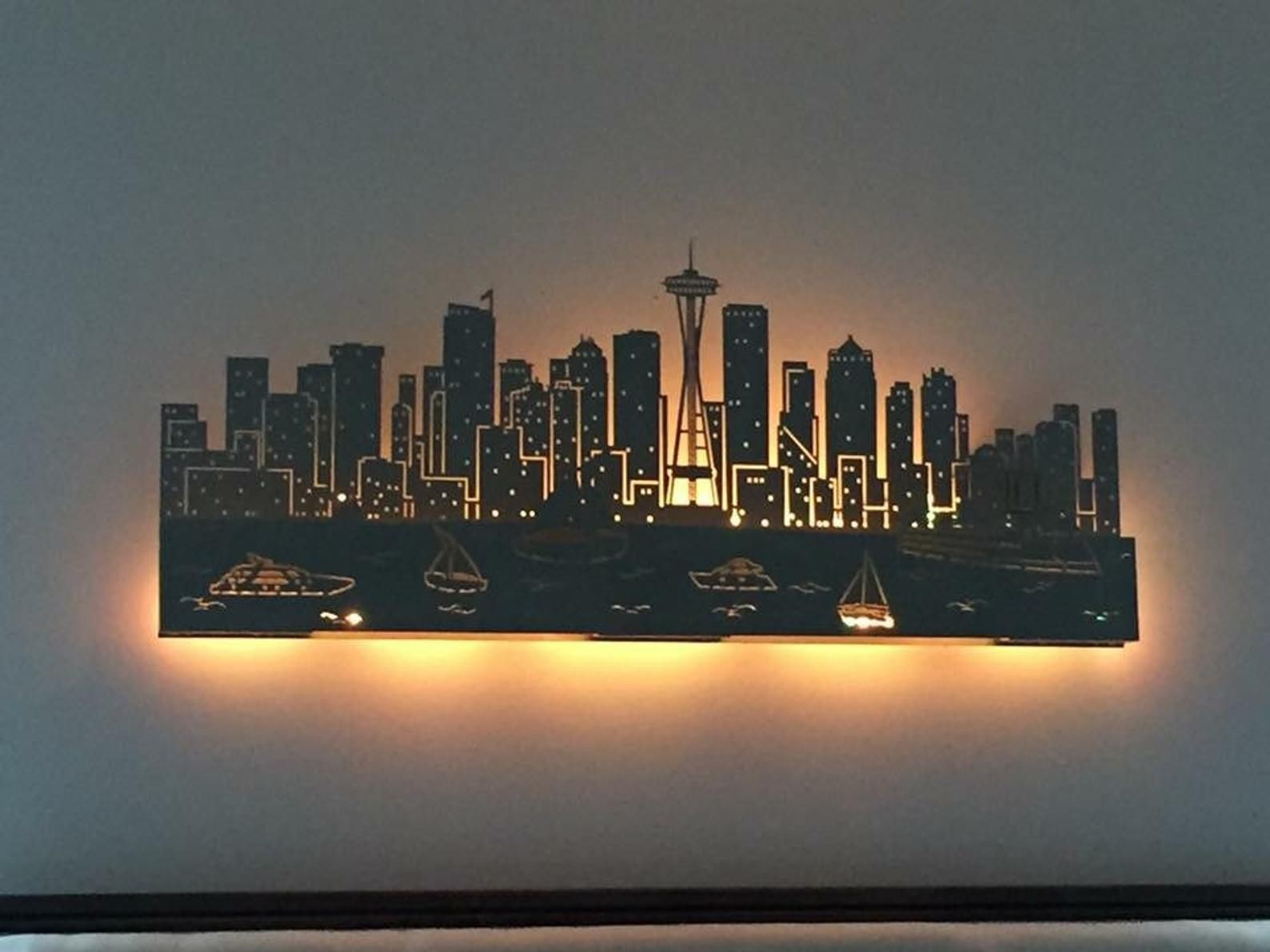 Custom Skyline New York City Wall Art Diy Easy Diy Wall Art Metal Tree Wall Art