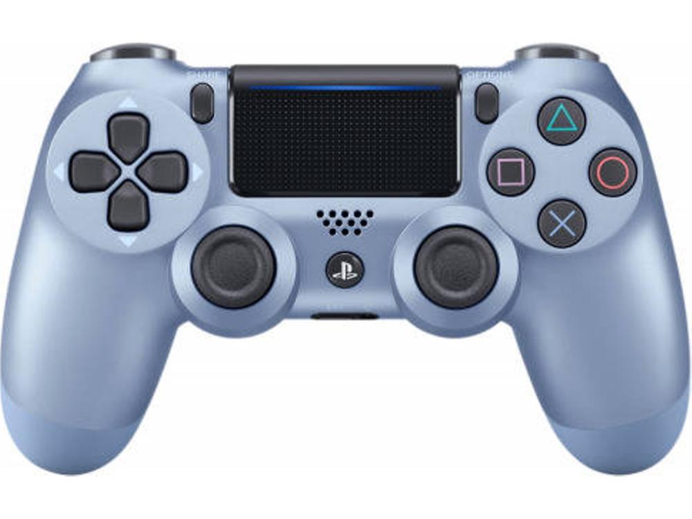 Comando Sem Fios Sony Dualshock 4 V2 Titanium Blue Ps4 Controle Para Ps4 Acessorios Ps4