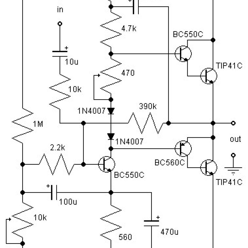 21w Class Ab Audio Amplifier Circuit Pinterest Hi Fi Preamplifier A With Bc550
