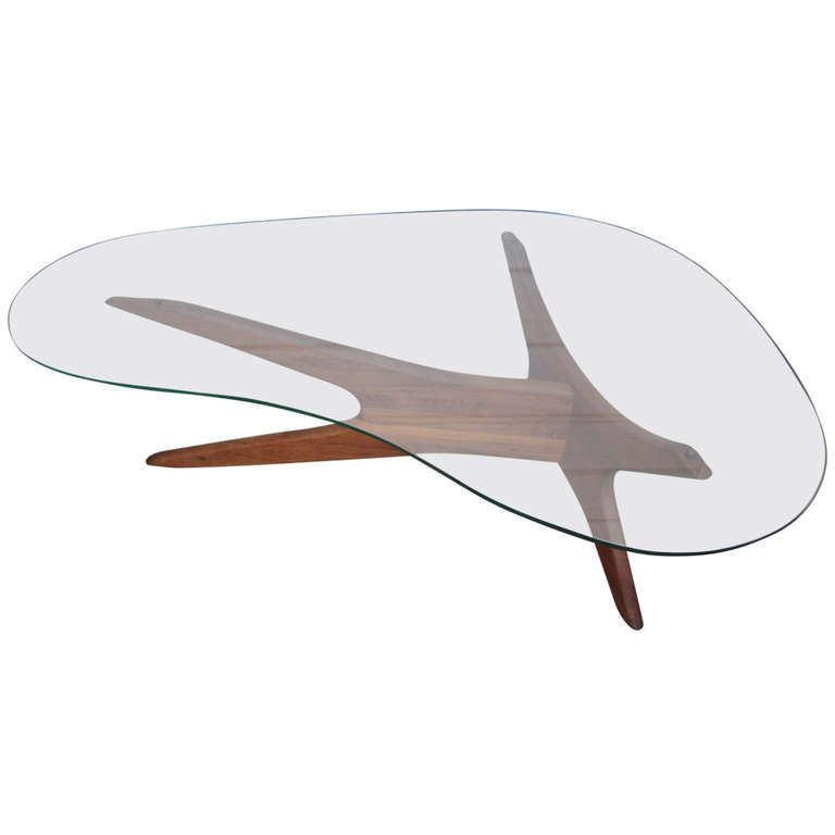 Adrian Pearsall Kidney Shaped Coffee Table For Craft Associates