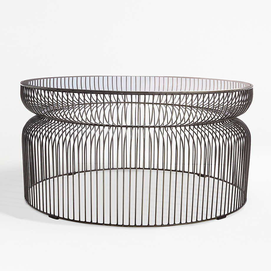 Spoke Glass Graphite Metal Coffee Table Reviews Crate And Barrel Wire Coffee Table Metal Coffee Table Crate And Barrel [ 920 x 920 Pixel ]