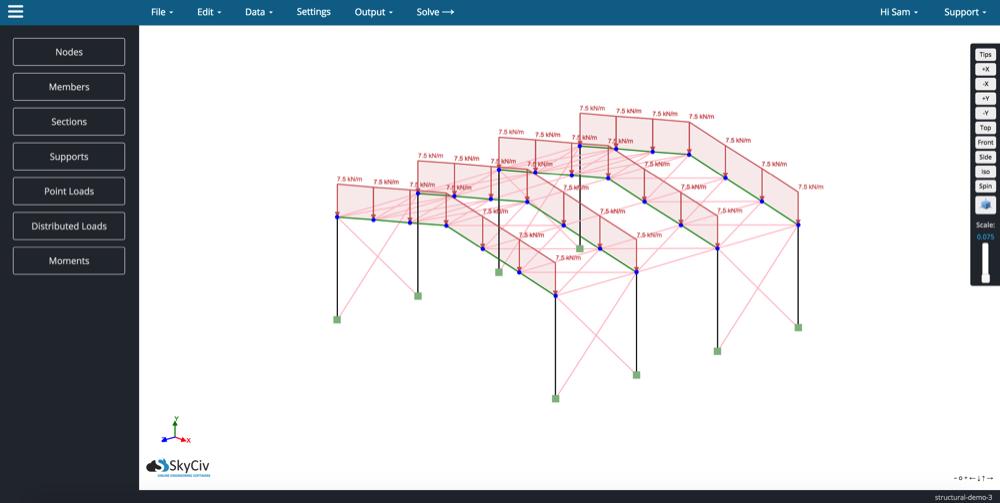 Free Online Frame Calculator | SkyCiv Engineering | ciencia ...