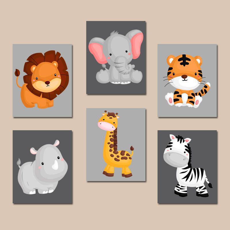 19++ Nursery animal wall art ideas