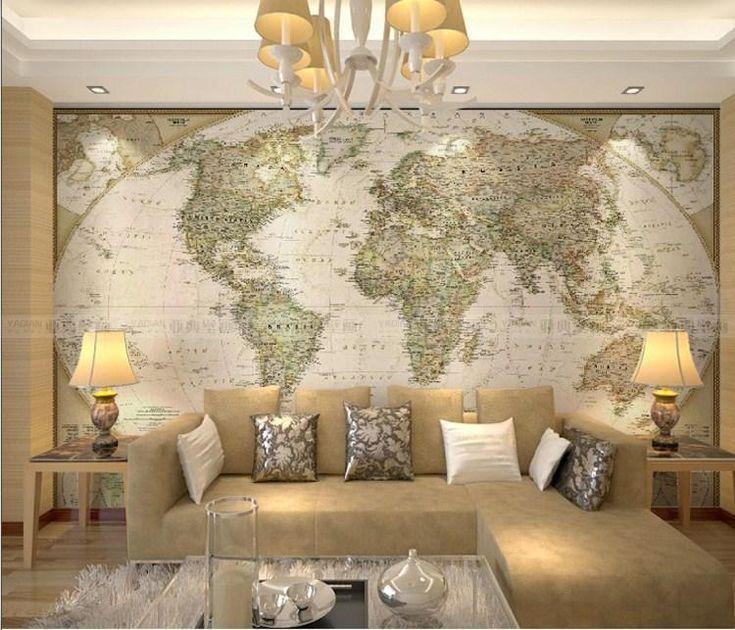 Resultado de imagen para decoracion paredes mapamundi