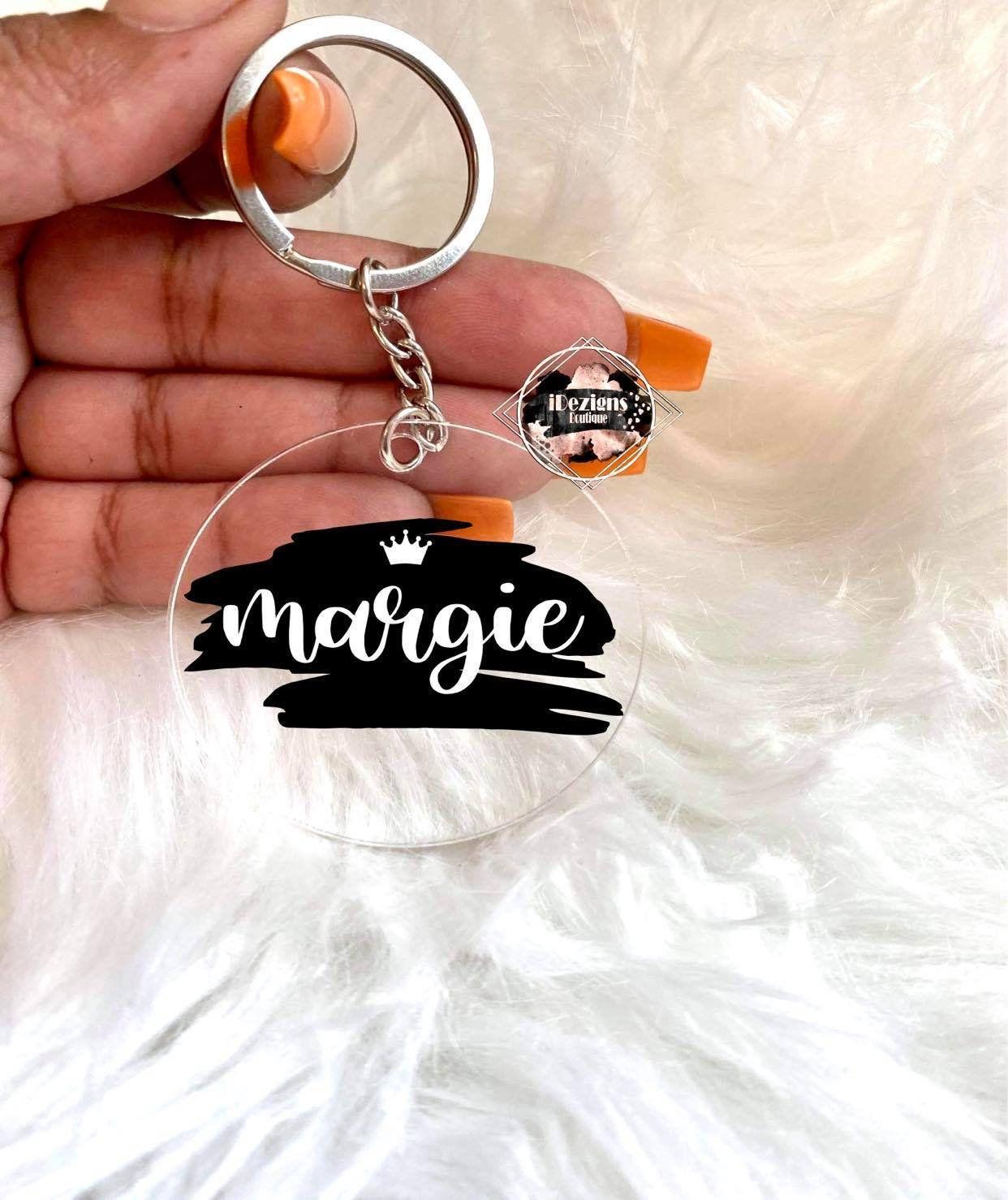 Keychain with Name Acrylic Blanks 2 inch Keychain Custom Keychain Great Gift for Someone Special Acrylic Keychain Personalized
