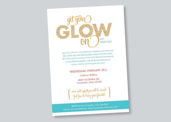 Business Event Invitation - Beauty Skin Care Event Invitation - business event invitation