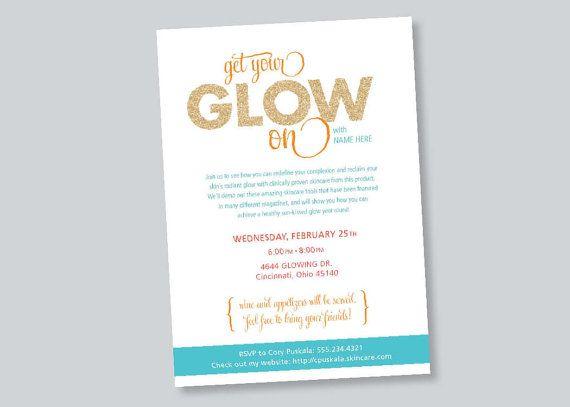 Business Event Invitation - Beauty Skin Care Event Invitation  DIY
