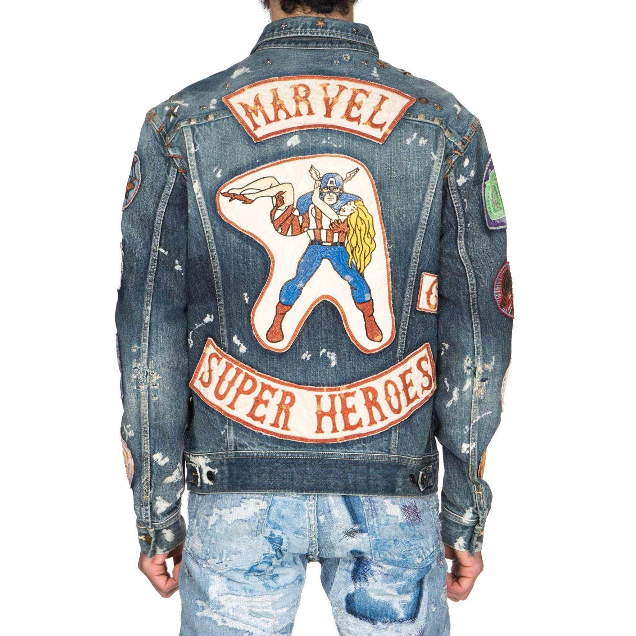 Kapital X Marvel Collection Denim Westerner Heroes Denim Jacket Denim Jackets [ 2048 x 2048 Pixel ]