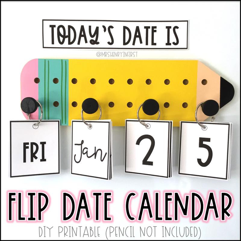 DIY Flip Calendar
