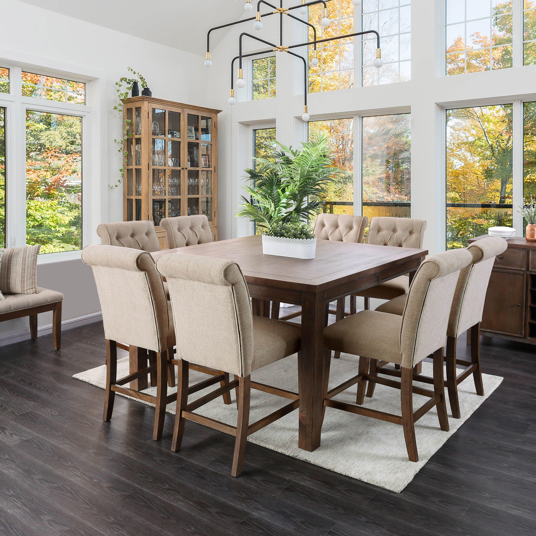 Leslie Rustic Counter Height Dining Table By Foa Oak Rustic Oak