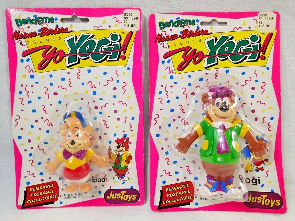 Yo Yogi Boo Boo Bear Just Toys Bendems Bendable Figures 1991 New Hanna Barbera Justoys Hanna Barbera Cartoons Dino The Dinosaur Bean Bag Toys