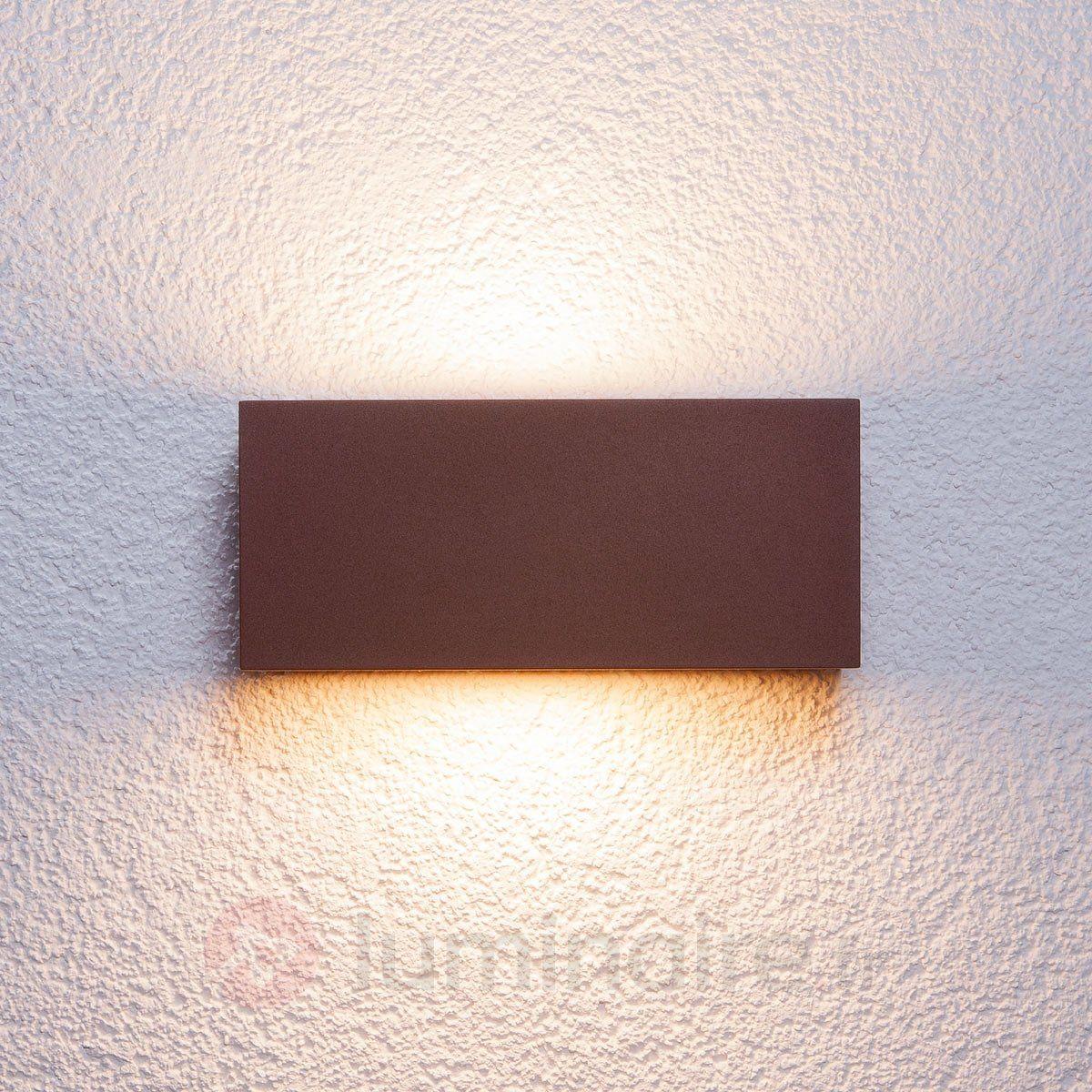 Rayon Ronde 9 W Extérieur DEL niveau faible mur lumière ou pas de lumière en Graphite