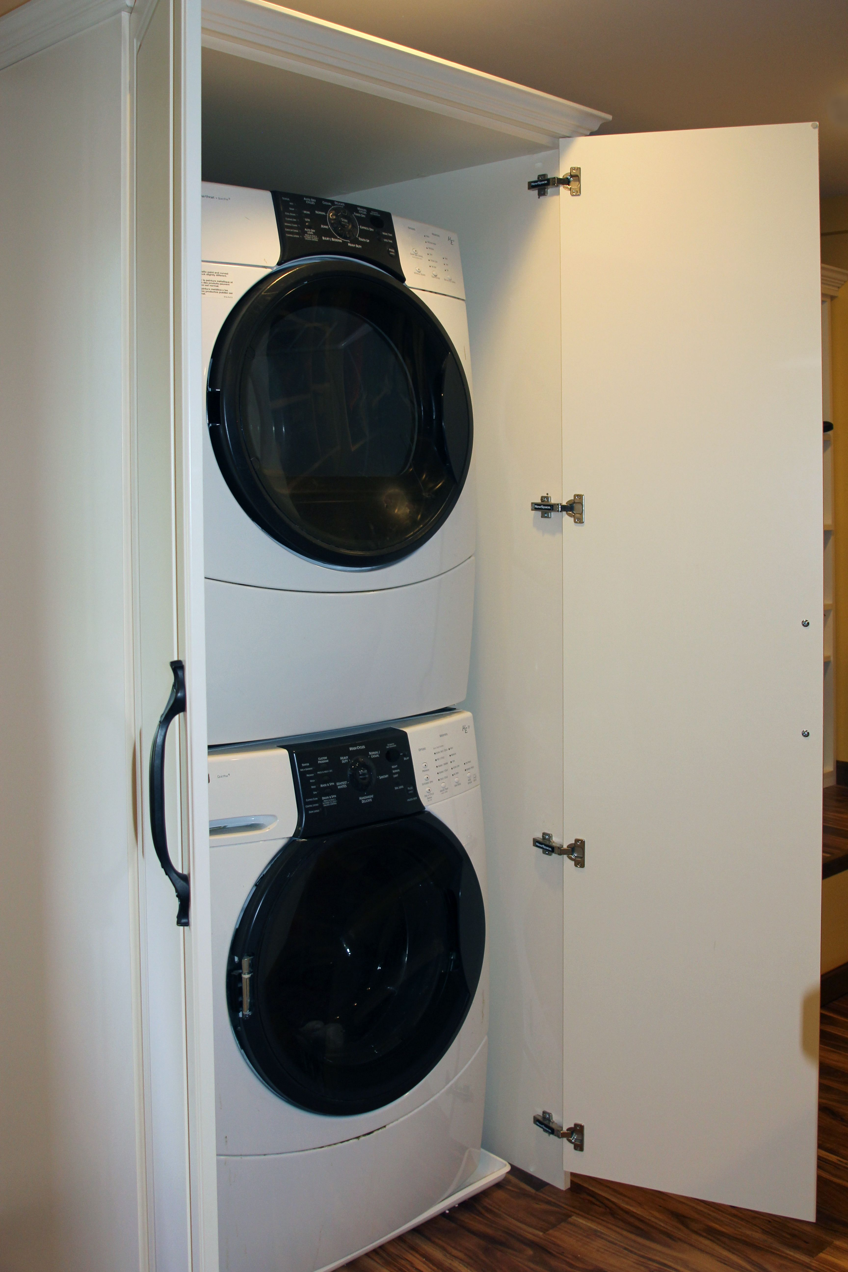 Make Doing Laundry Easy By Having A Washer/dryer Installed In Your Closet!
