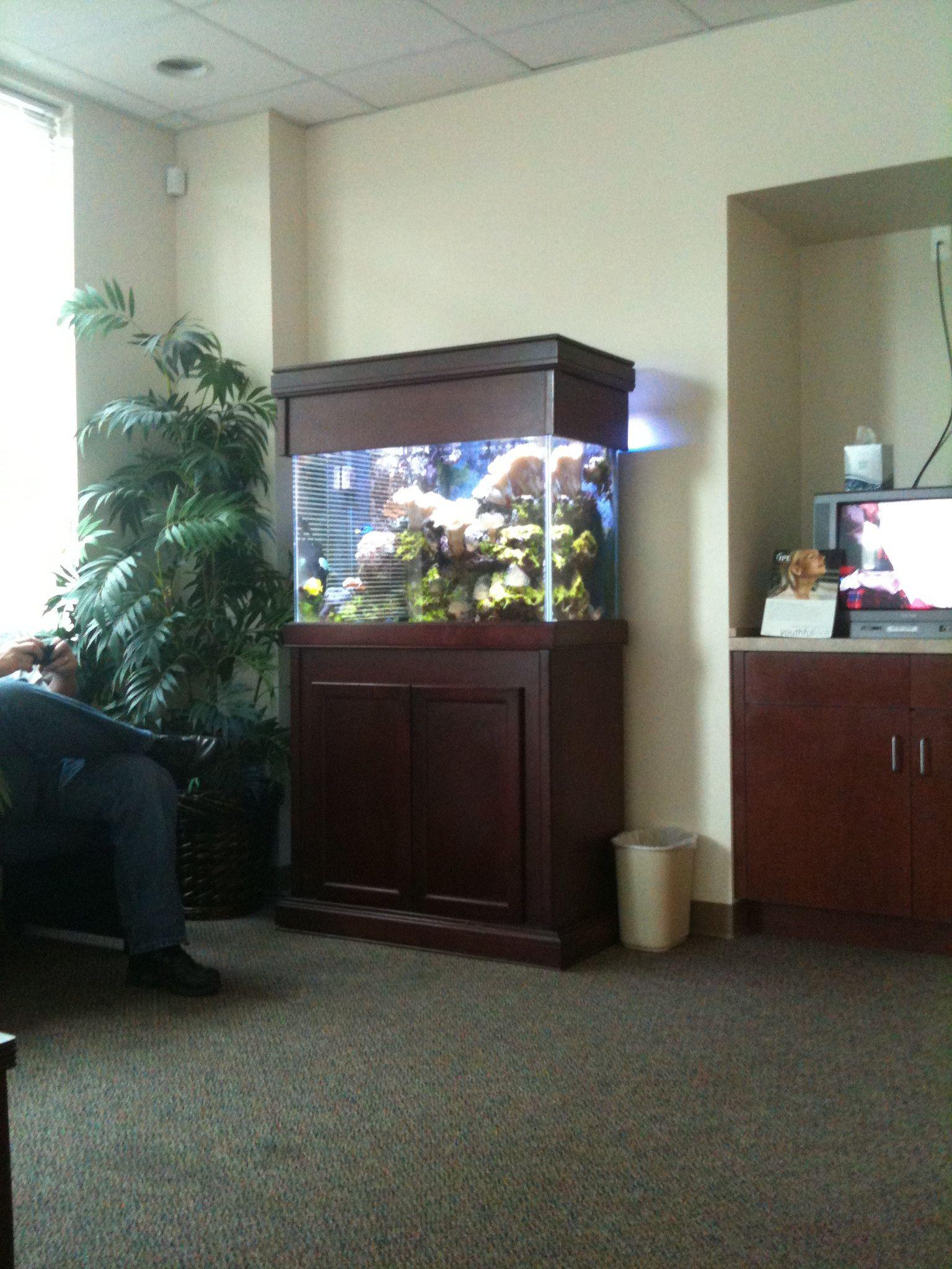 AquaTerre lobby and salt water aquarium Pacific Shores Resort