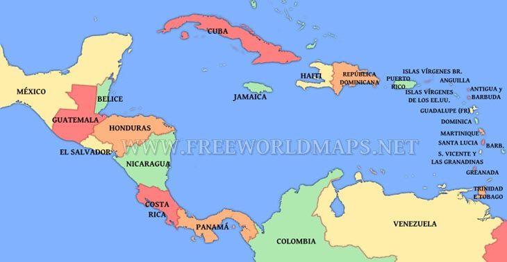 mapa america central Resultado de imagen para mapa de america central | nnn | Pinterest  mapa america central
