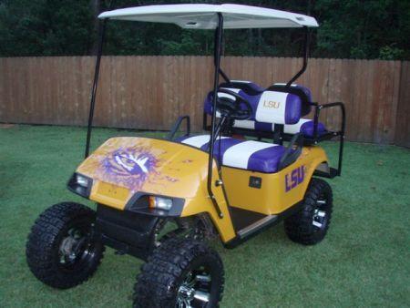 LSU Golf Cart | Tailgating Ideas | Pinterest | Golf carts, Lsu and Lsu Golf Cart Seats on uva golf cart seats, el tigre golf cart seats, columbia golf cart seats, brown golf cart seats, mississippi state golf cart seats, steelers golf cart seats, alabama golf cart seats, michigan golf cart seats,