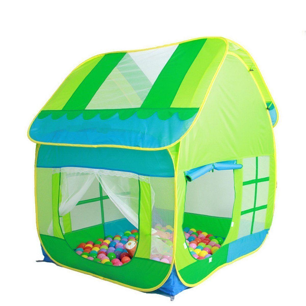 Truedays Kids Adventure Big Green Pop up Play Tent Indoor or Outdoor Tunnel Pool Ball  sc 1 st  Pinterest & Truedays Kids Adventure Big Green Pop up Play Tent Indoor or ...