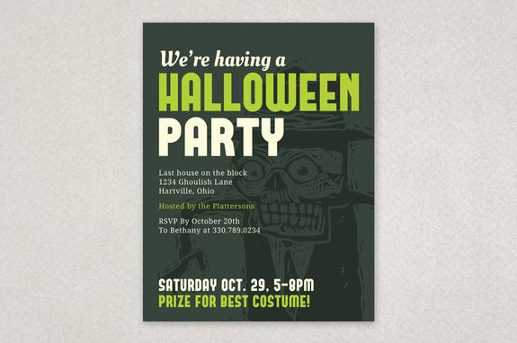 Halloween Party Invite Flyer Template - Featuring a subtle yet - zombie flyer template