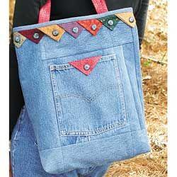 Praire point jeans bag