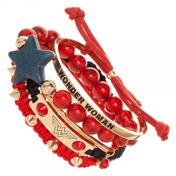 Wonder Woman Arm Party Bracelet Set DC Comics Movie Bioworld Officially Licensed #Bioworld