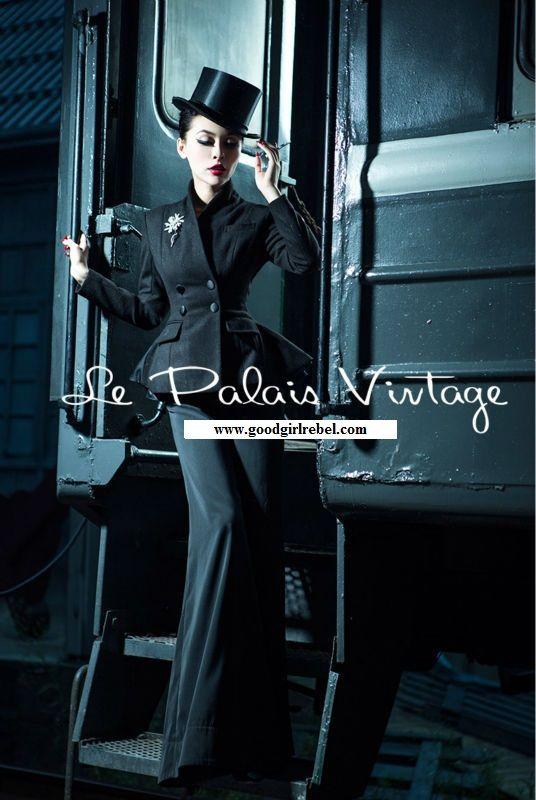 7f660895465f3 Winter Coat · Peplum · Vintage Glam Fashion