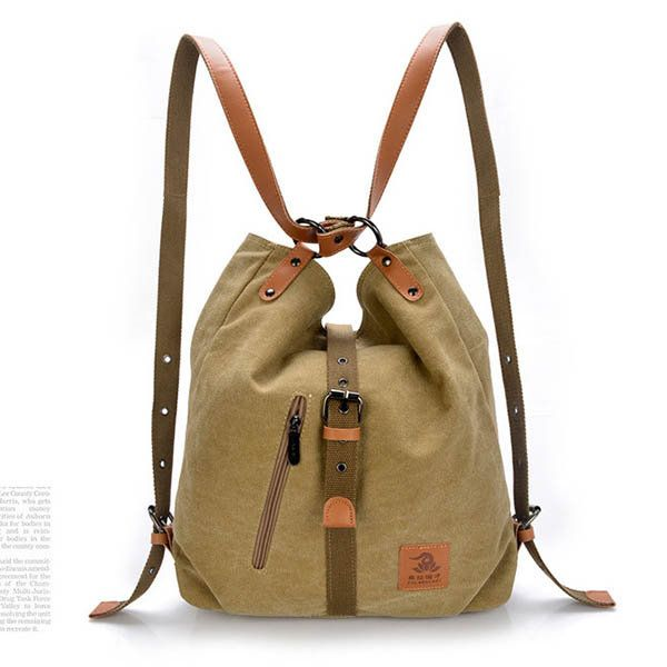 Women Canvas Casual Multifunctional Microfiber Leather Large Capacity Handbag Shoulder Bags Backpack Online Newchic