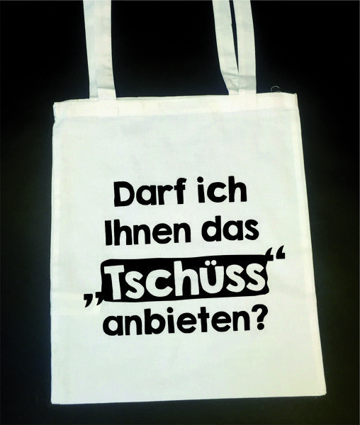 Photo of [Tschüss]  Bedruckte Baumwolltasche / Jutetasche. auf DaWanda.com