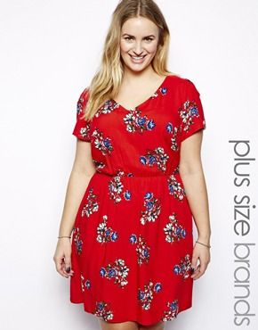 f0a0a47ebb1 Enlarge New Look Inspire Floral Print Tea Dress