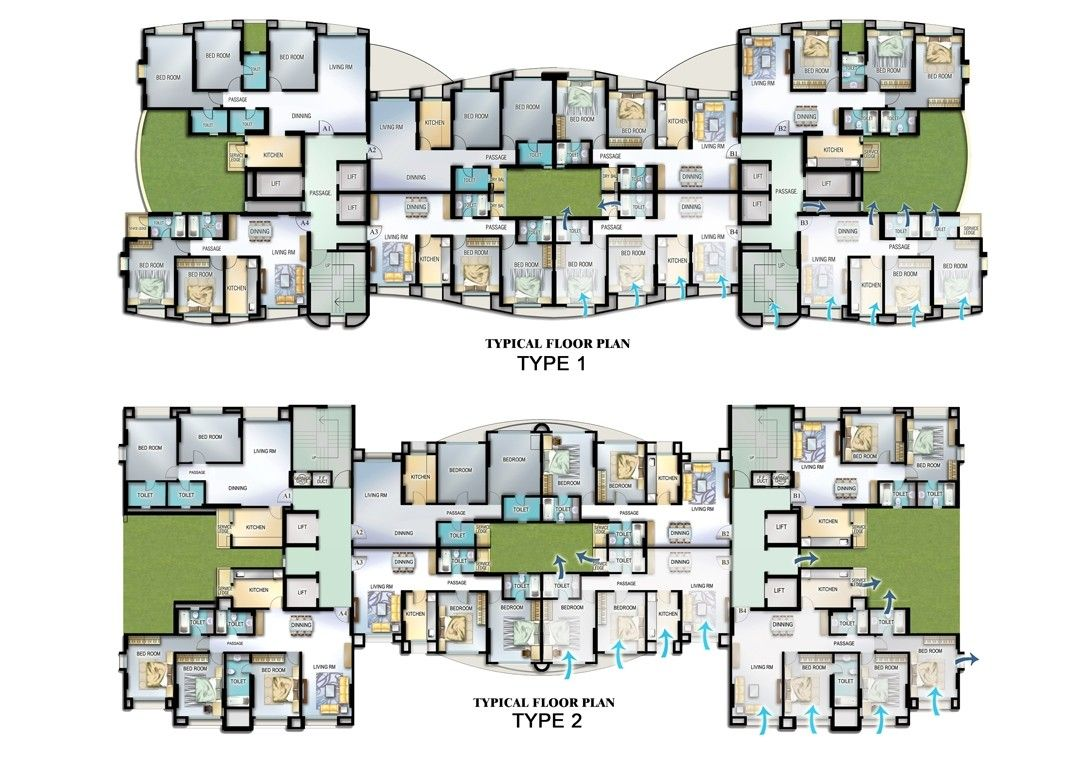 Bhakti Park Residential Complex Residential Complex Architectural Floor Plans Residential Building Plan