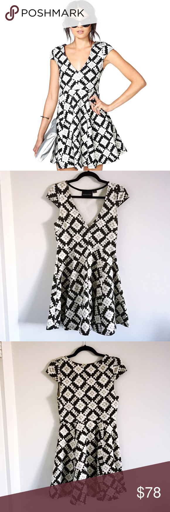 Minkpink Abstract Dress 🖤 Versus From The Abstract dress by Minkpink sold at Nasty Gal and Nordstrom. Perfect condition and SO flattering. The fabric is thick but stretchy and amazing quality! Make me an offer! 🖤 Nasty Gal Dresses Mini