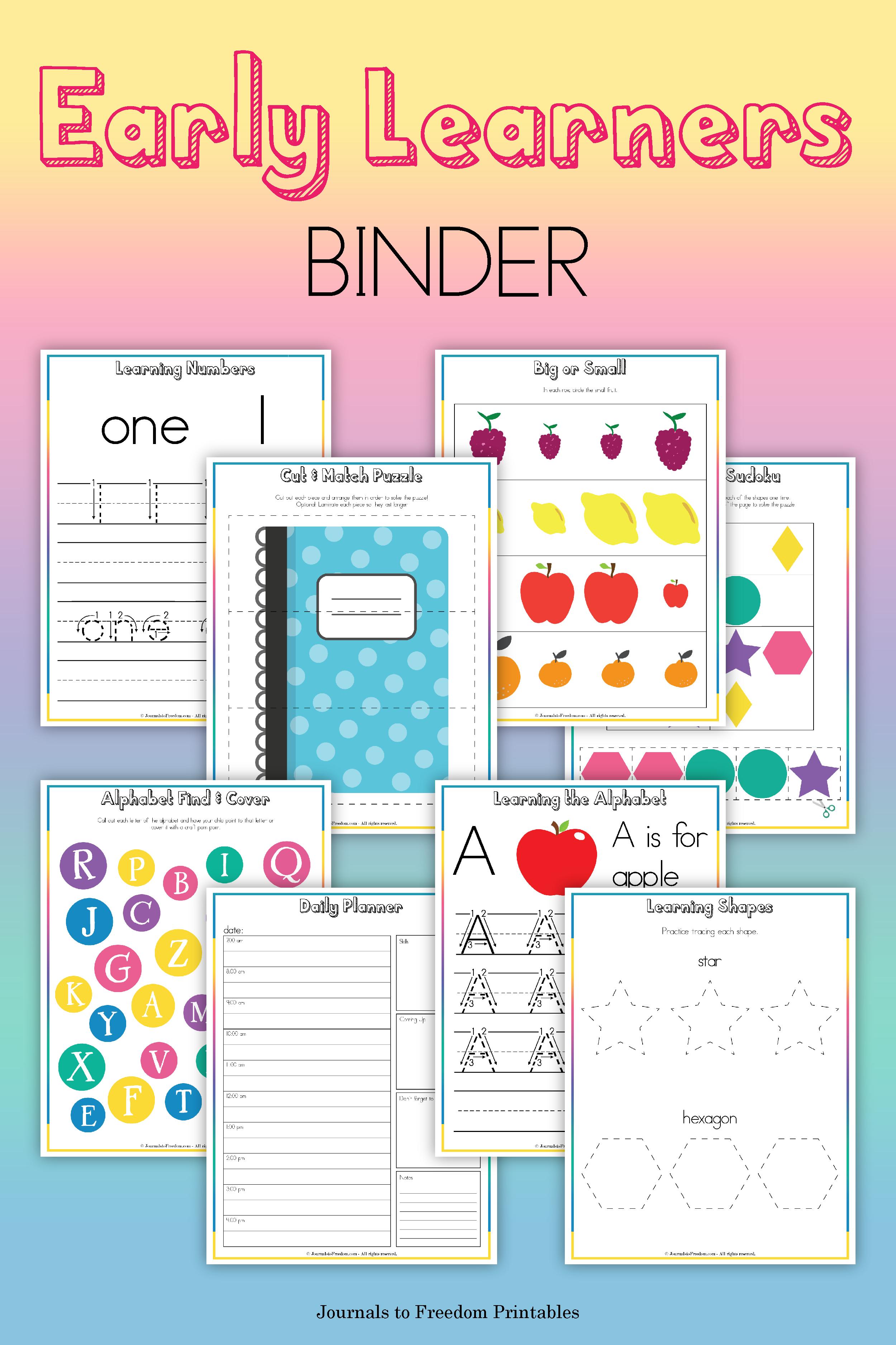 Printable Early Learners Binder In