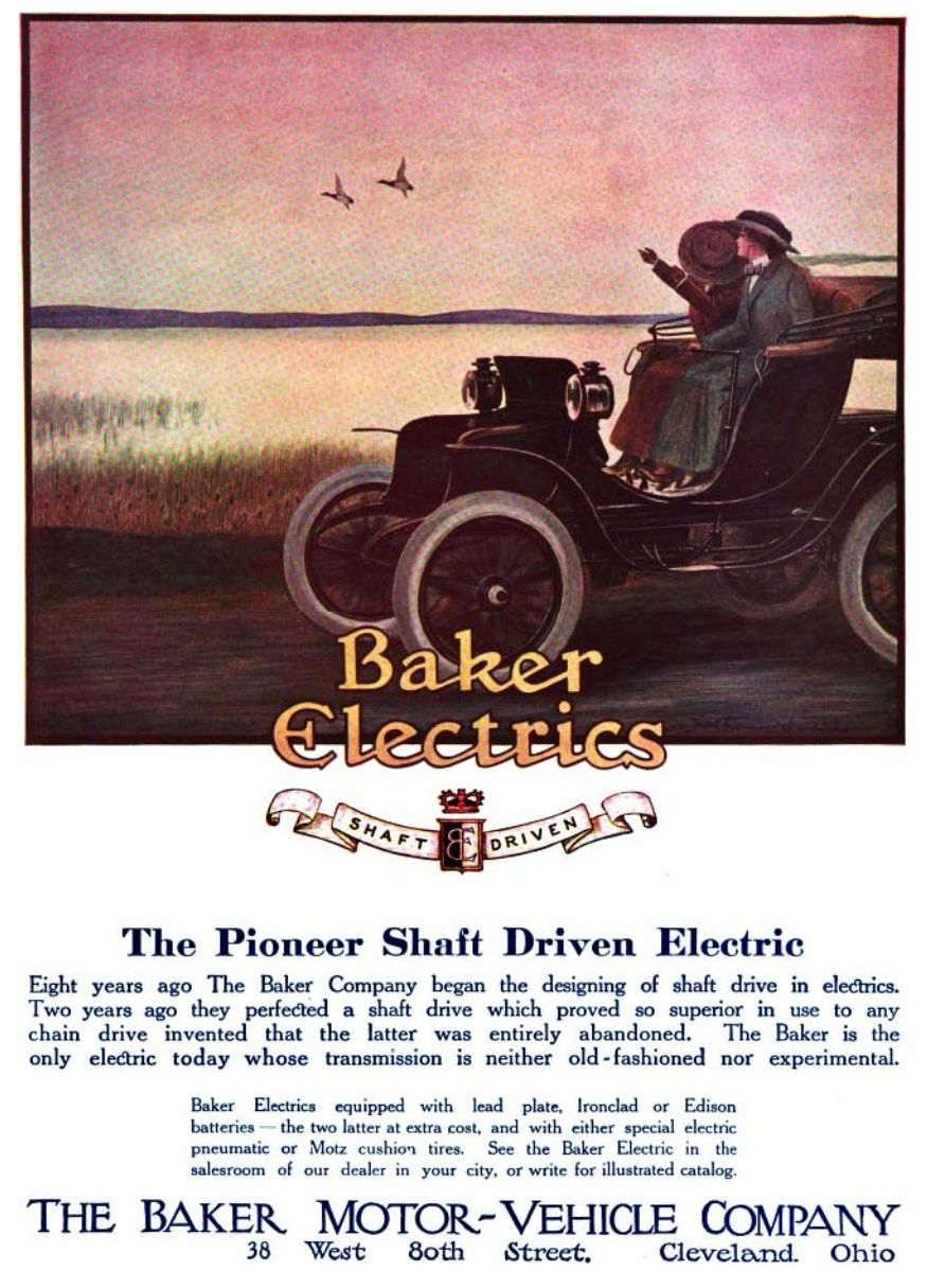 The Baker Motor-Vehicle Company - Baker Electric - May 15, 1911 Date ...