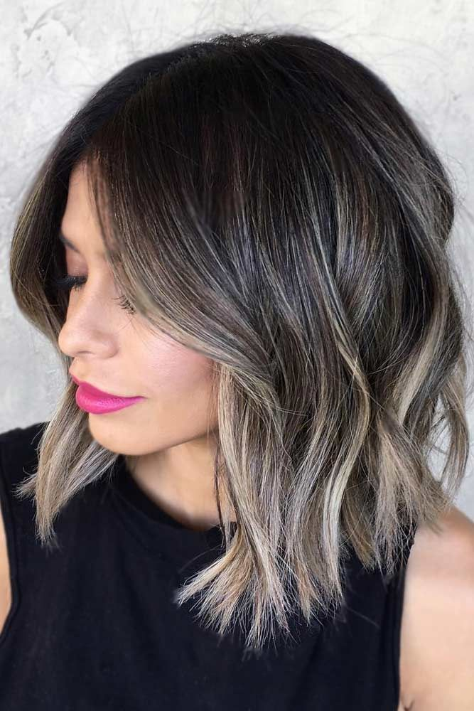 18 Medium Length Hairstyles For Thick Hair Hair Styles Short Hair Balayage Ash Blonde Hair Colour