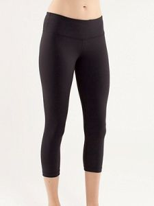 a657615c234fd The Lululemon Wunder Under Crop ( 68  Lululemon.com) has a midrise  waistband and a seam around the hips that highlights an hourglass figure.