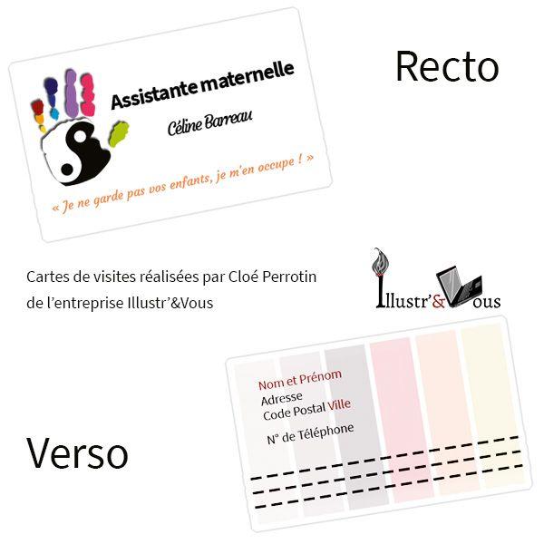 Cartes De Visite Zen Et Colores Pour Une Assistante Maternelle Sur Nantes