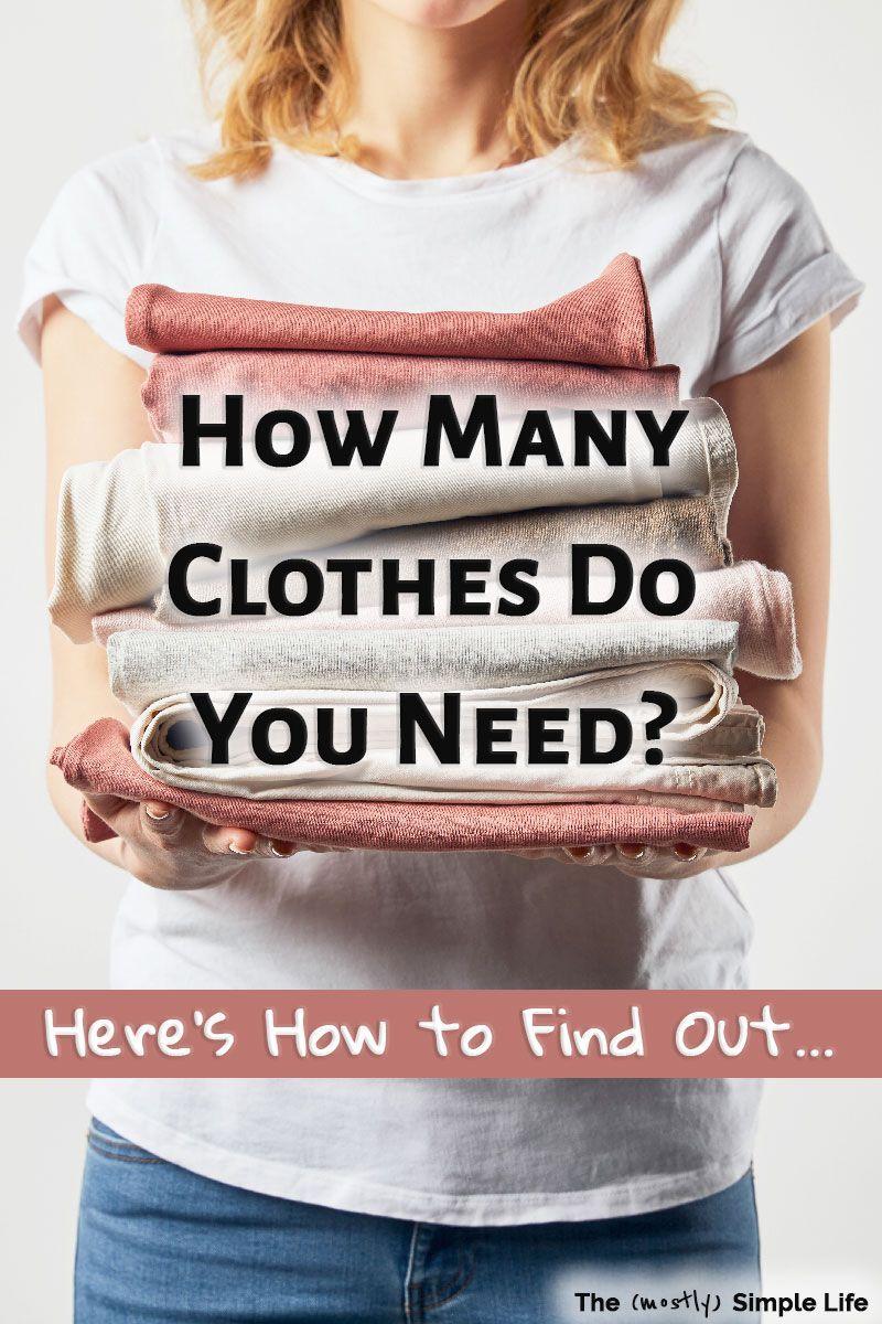 How many clothes do I need? Do you have enough closet essentials for a