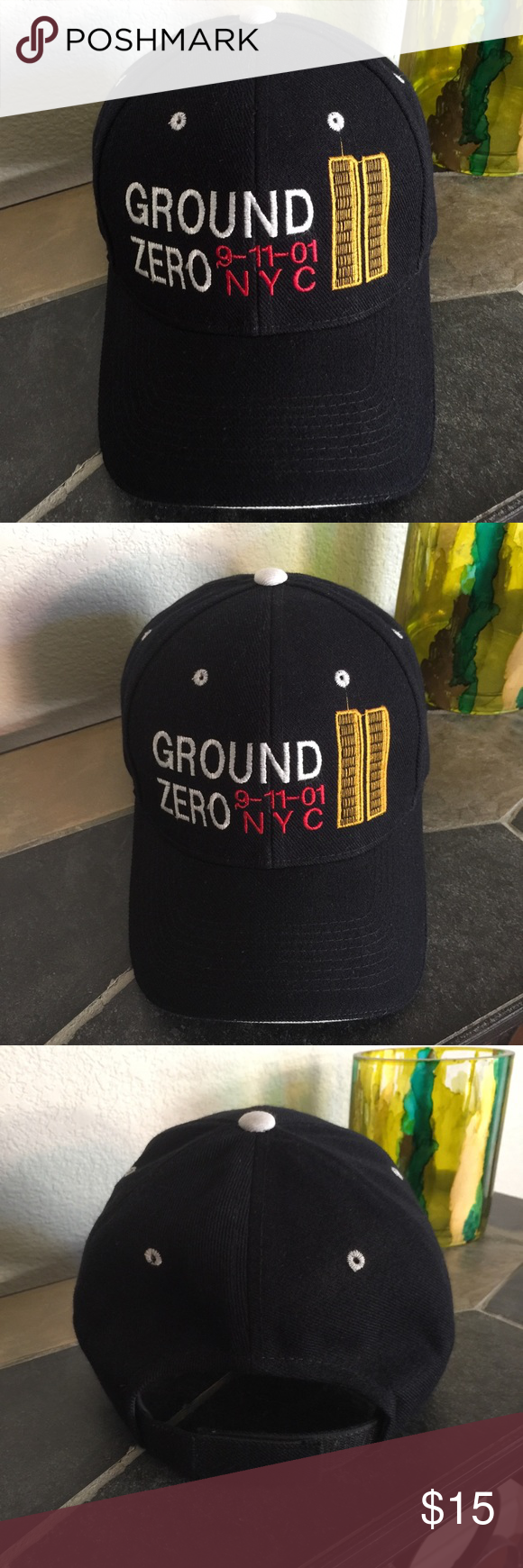 GROUND ZERO NYC 911  Cap A DAY OUR. COUNTRY SHALL NEVER FORGET.  911 , BLACK,  one size ACE Accessories Hats #groundzeronyc