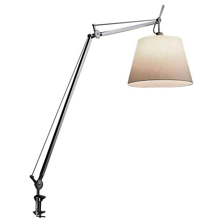 Artemide Tolomeo Mega Table Lamp With Parchment Diffuser And Clamp Lamp Table Lamp Desk Lamp Design