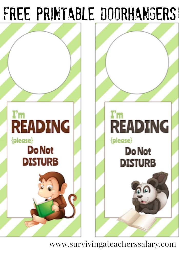 Iu0027m Reading Printable Door Hanger for Book Nooks Book nooks - door hanger template