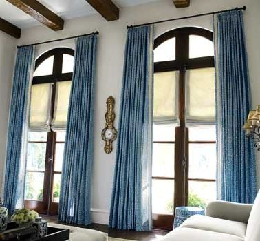 Living Room Blue Curtains And Drapes | Blue Curtains And Drapes