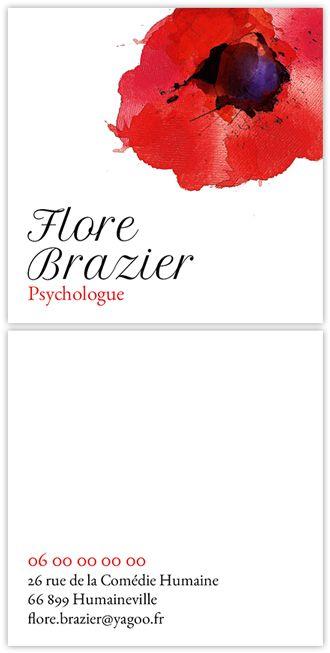 Fleuri Coquelicots Carte De Visite Portrait