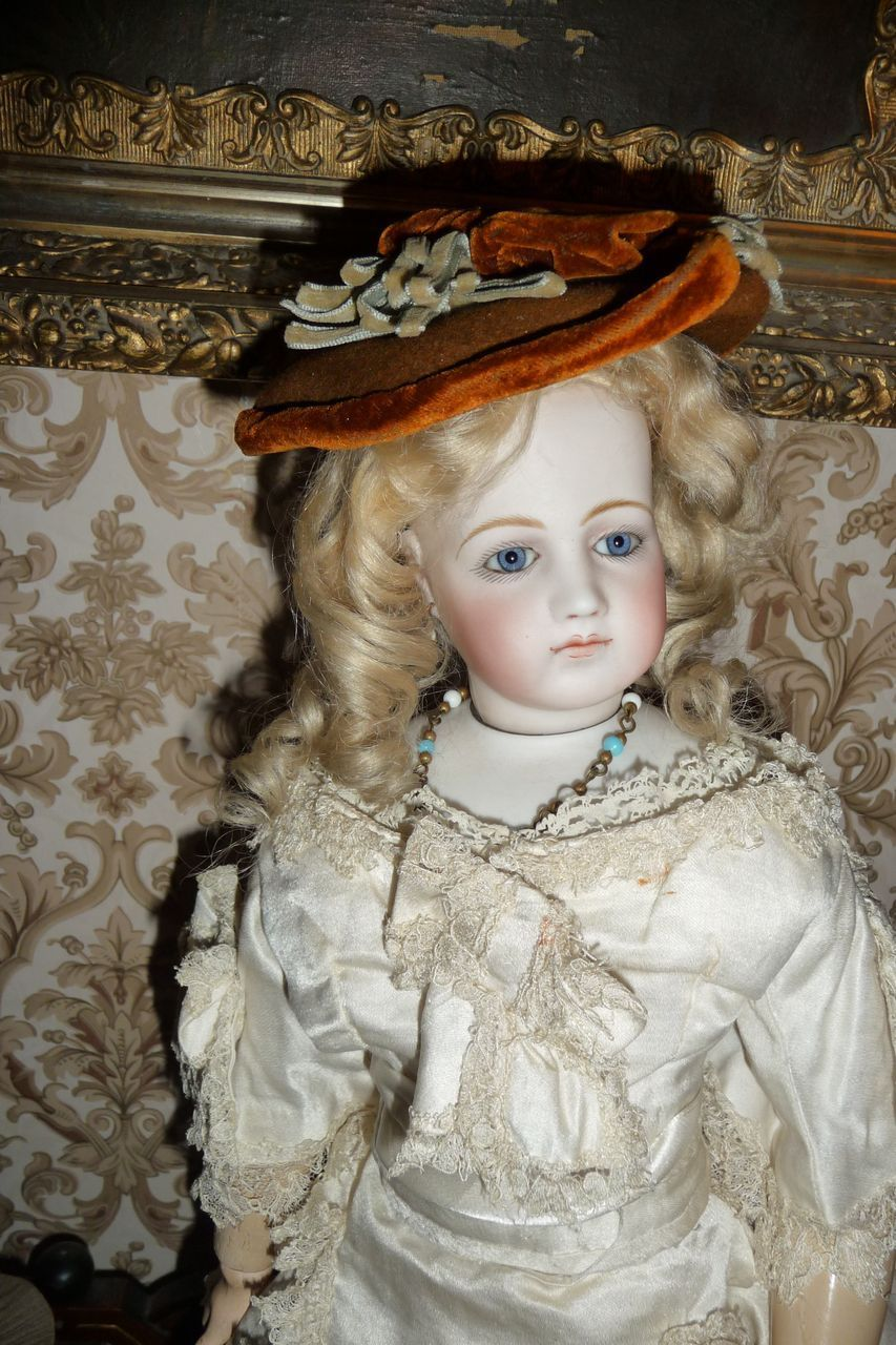 Wonderful small size antique doll bonnet for french fashion or small from antiquedolls on Ruby Lane