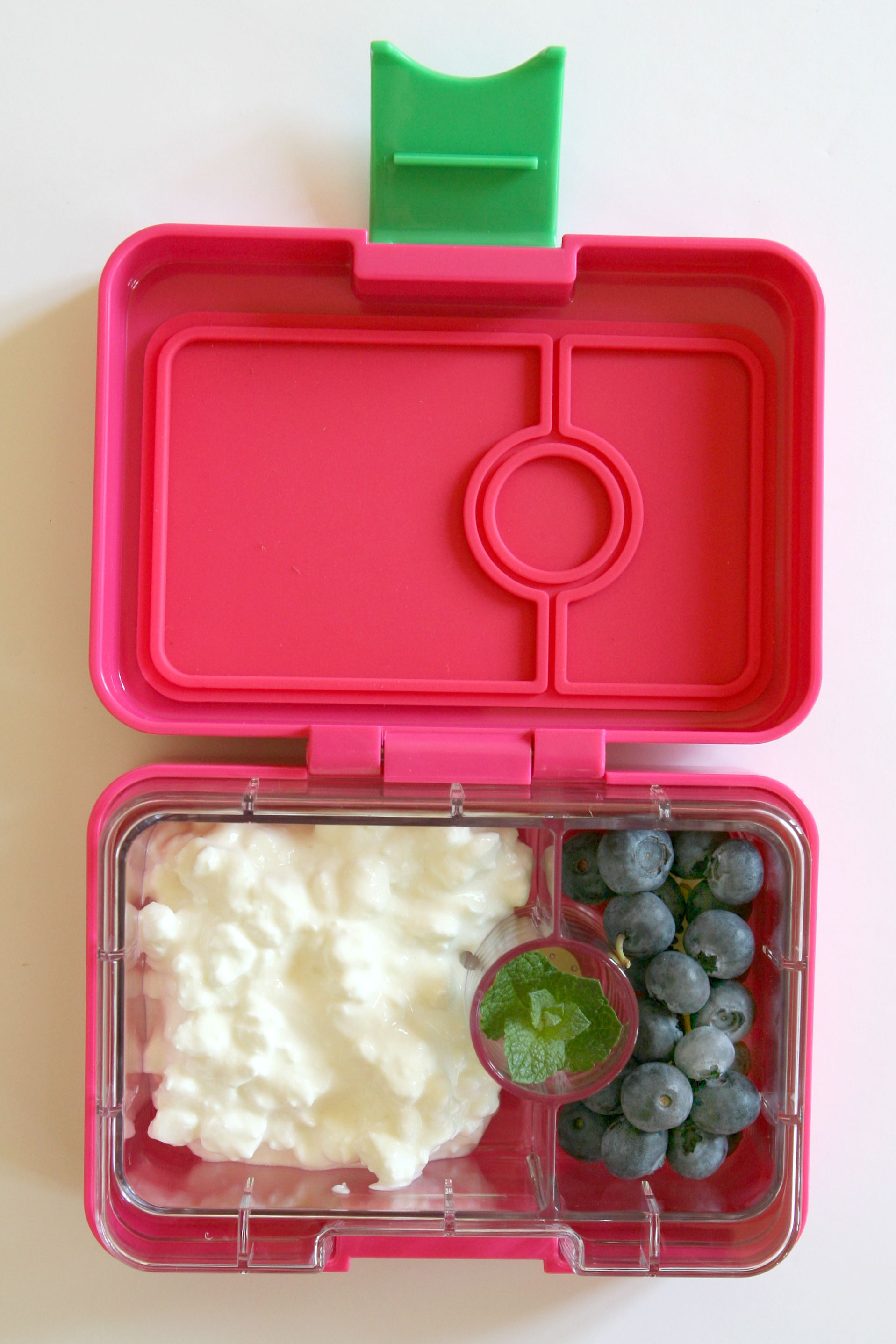 100 calorie snack: half a cup of cottage cheese, a handful of
