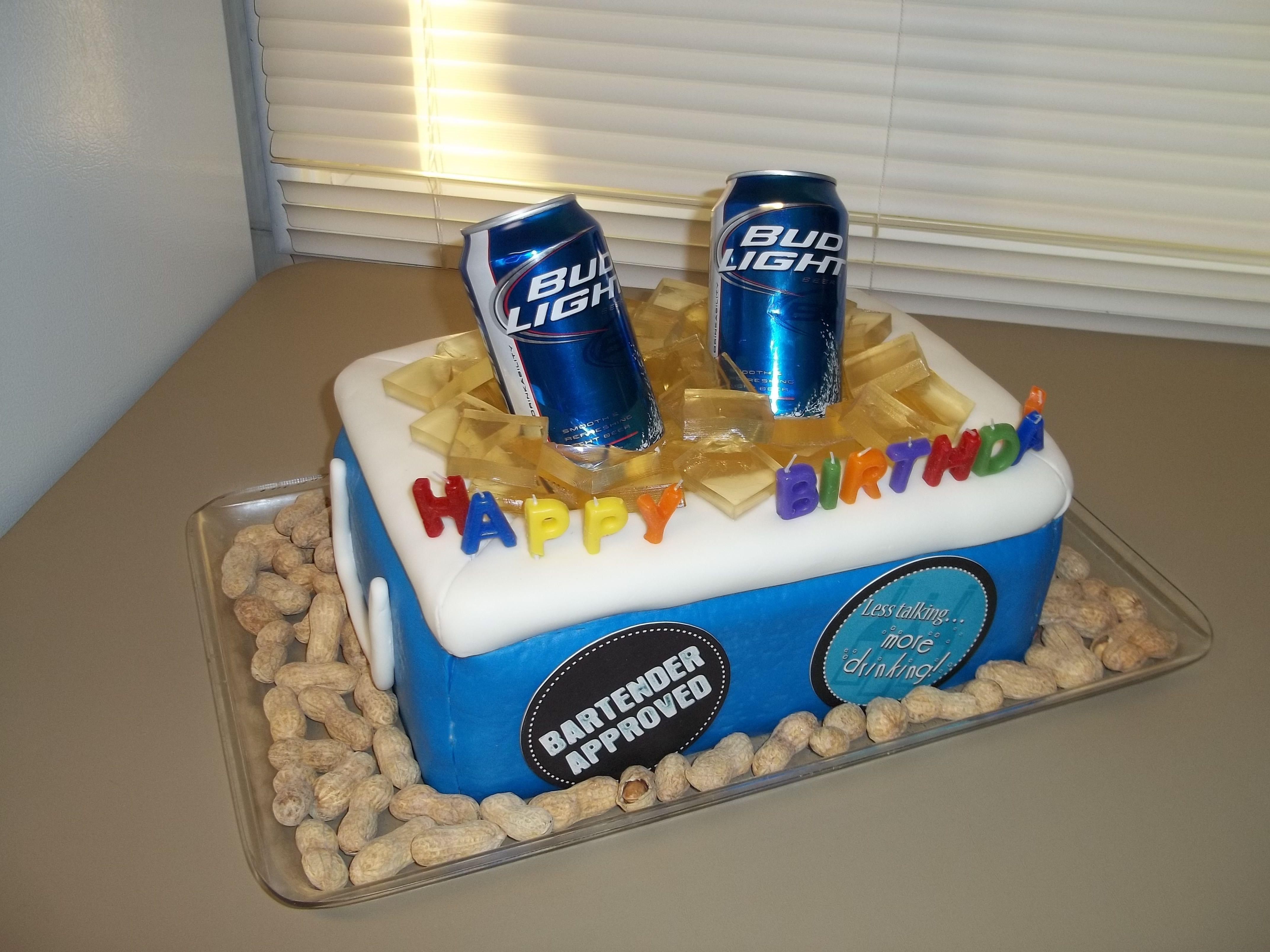 Beer Cooler Cake My Cakes Pinterest Cake