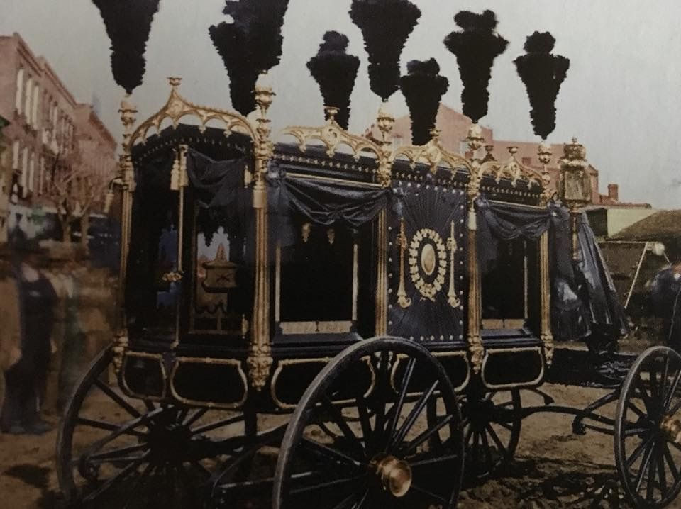 Lincoln S Funeral And Hearse Washington 1865 13 Colorized