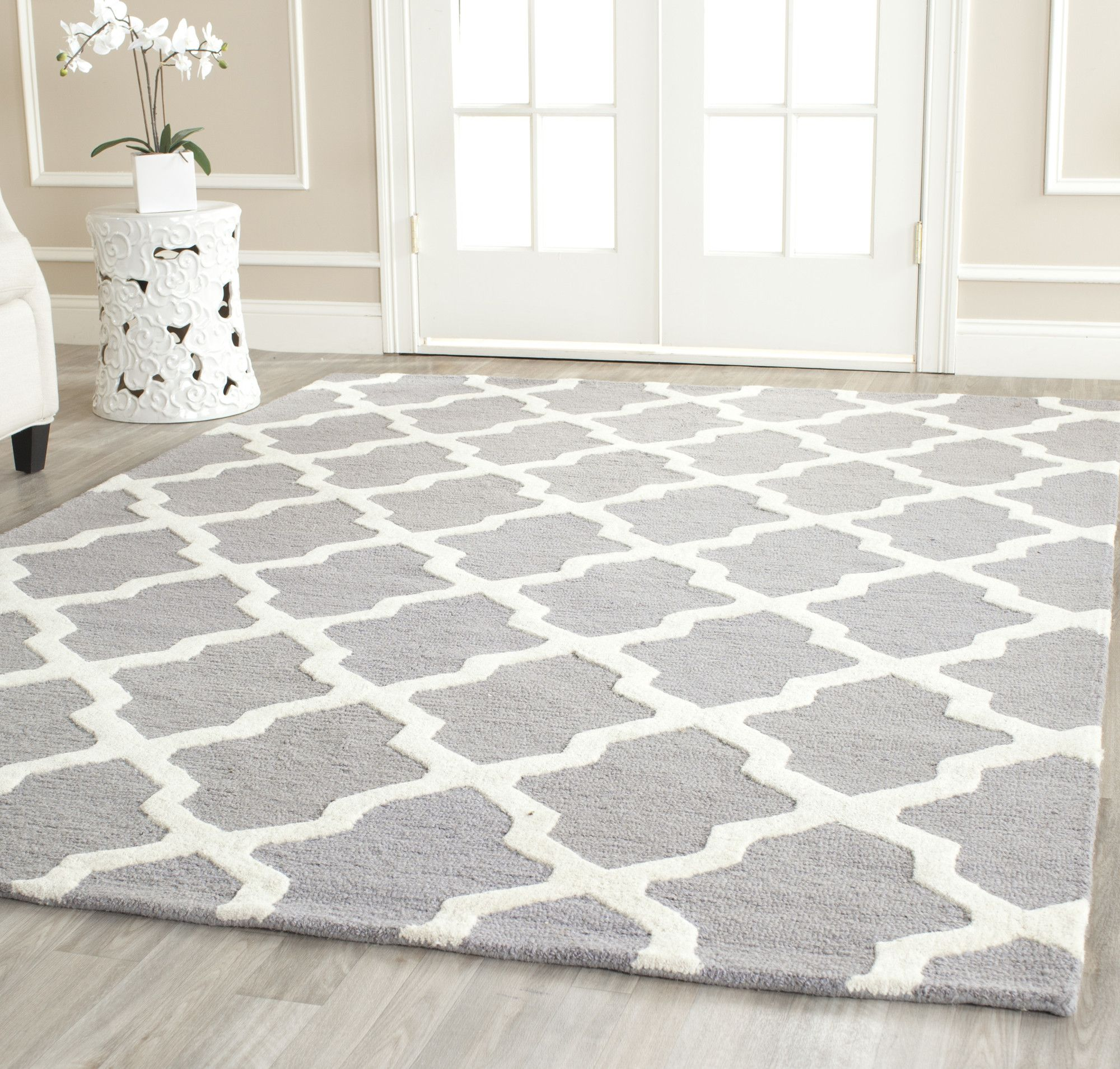 163 222 Safavieh Brady Grey Rug Amp Reviews Wayfair Uk No